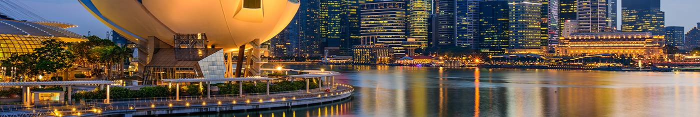 Distance city views of the Singapore city and travel with vacation Maldives to experience