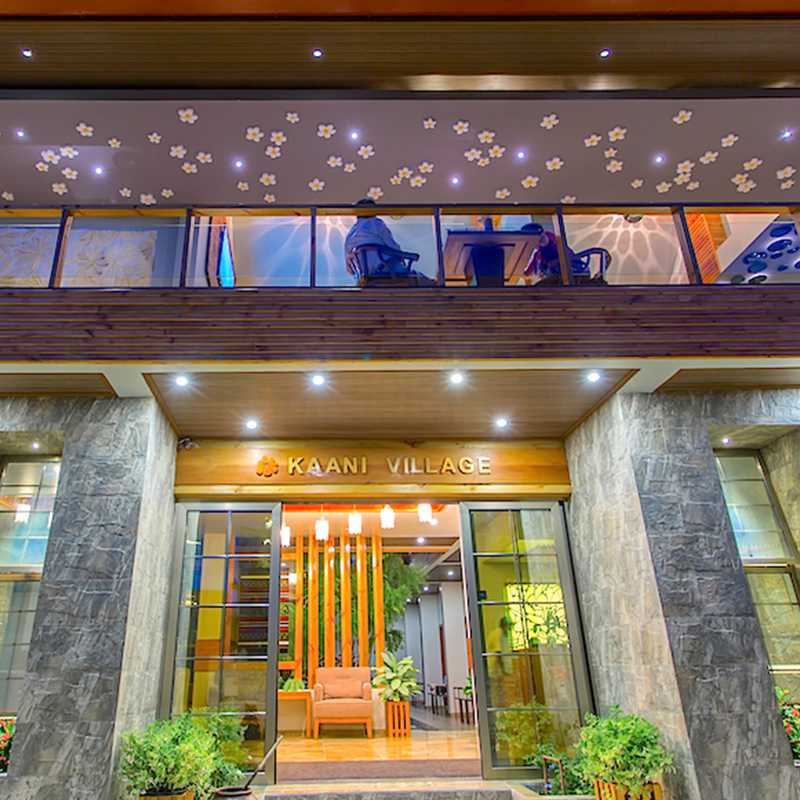 Entrance view of the hotel