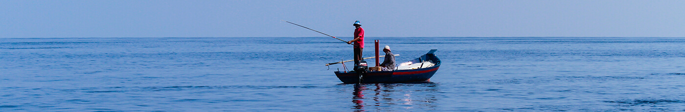 Distance view of deep water fishing in Maldives