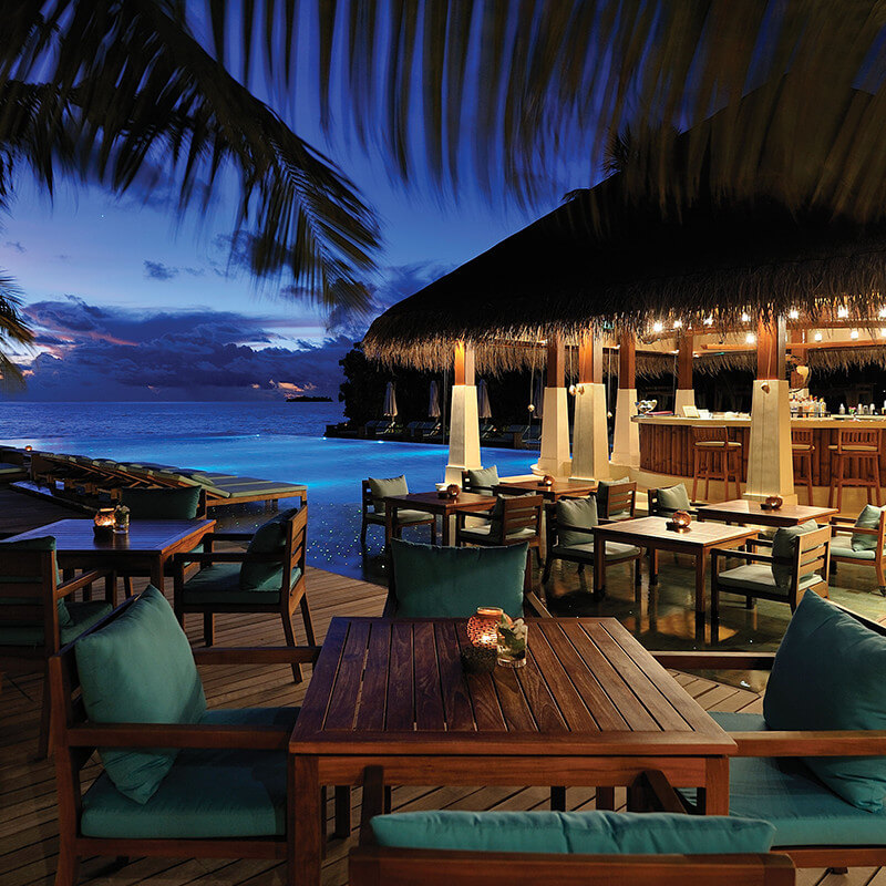 Zero degree restaurant in Ayada Maldives