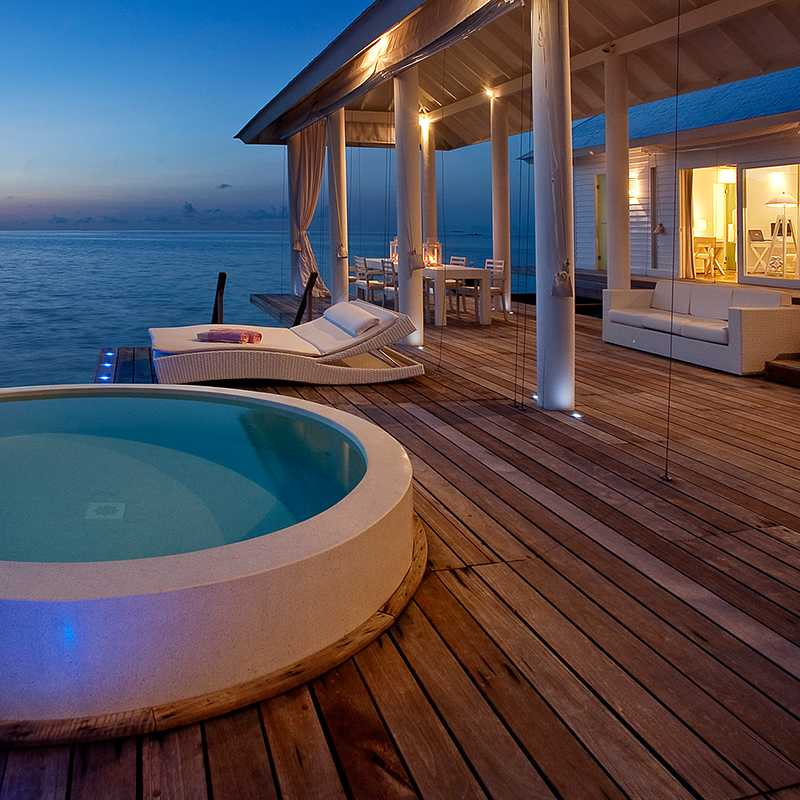 serene views of the sea at two bedroom villa in Maldives