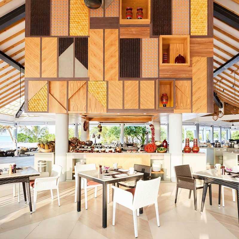 Amaya food gallery at the dining area at Maldives