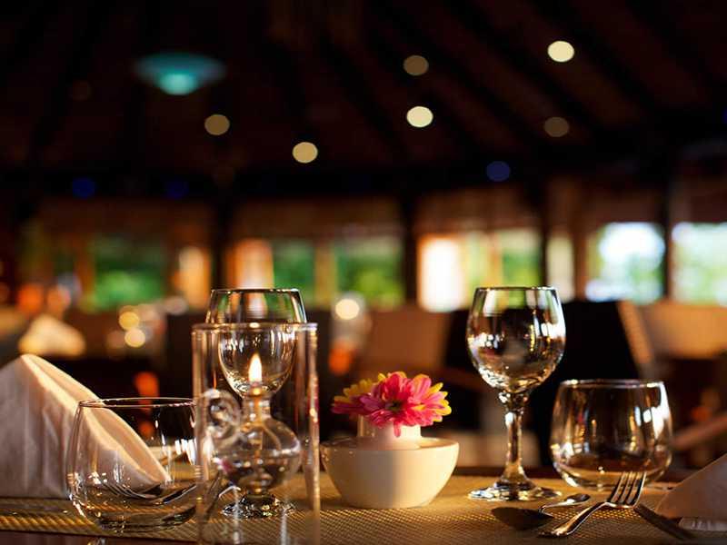 Bar area in Maldives hotels