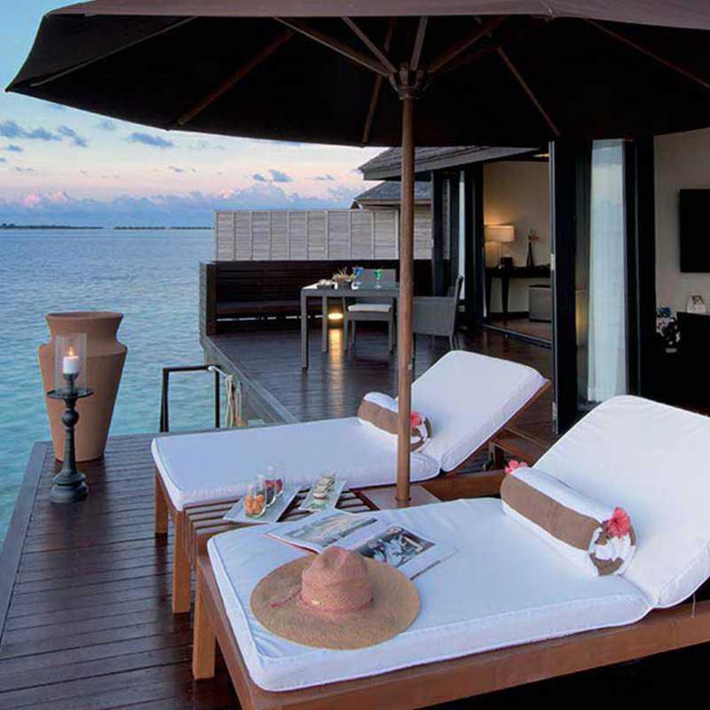 Deluxe water villa of the hotel
