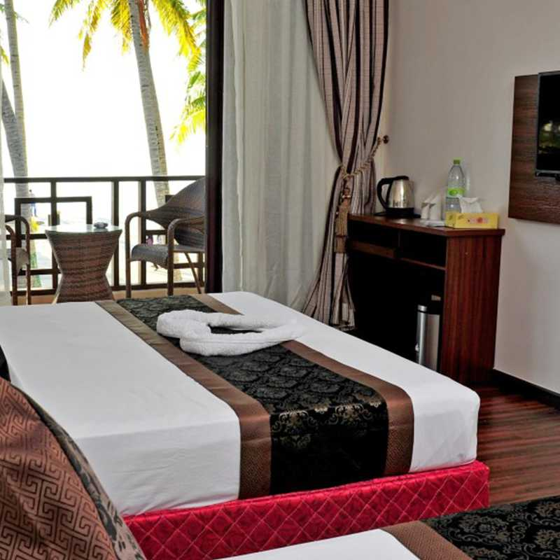 Interior view of the comfy double room sea view In Maldives