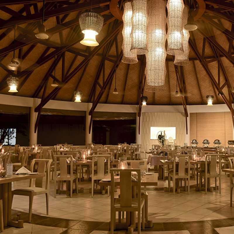 Interior view of the dining area in Maldives hotels