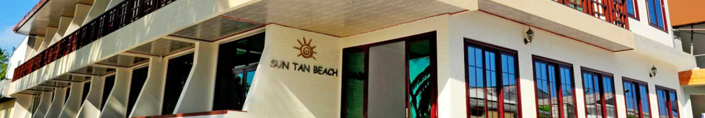 Outdoor image of the hotel sun tan beach in Maldives