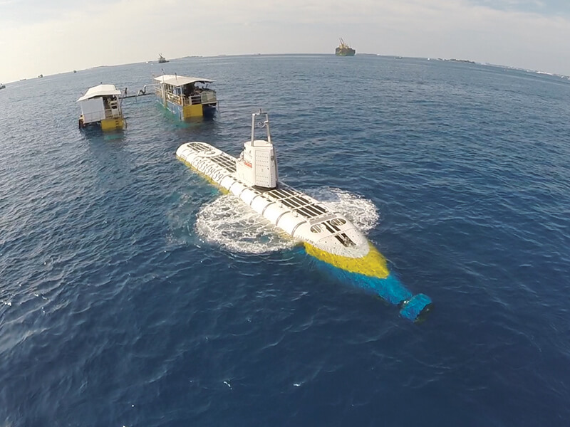 Explore under water via submarine in Maldives
