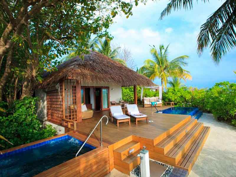 Distance views of the cabana with outdoor pools