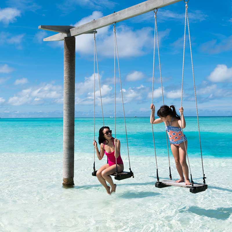 overwater swing in Maldives