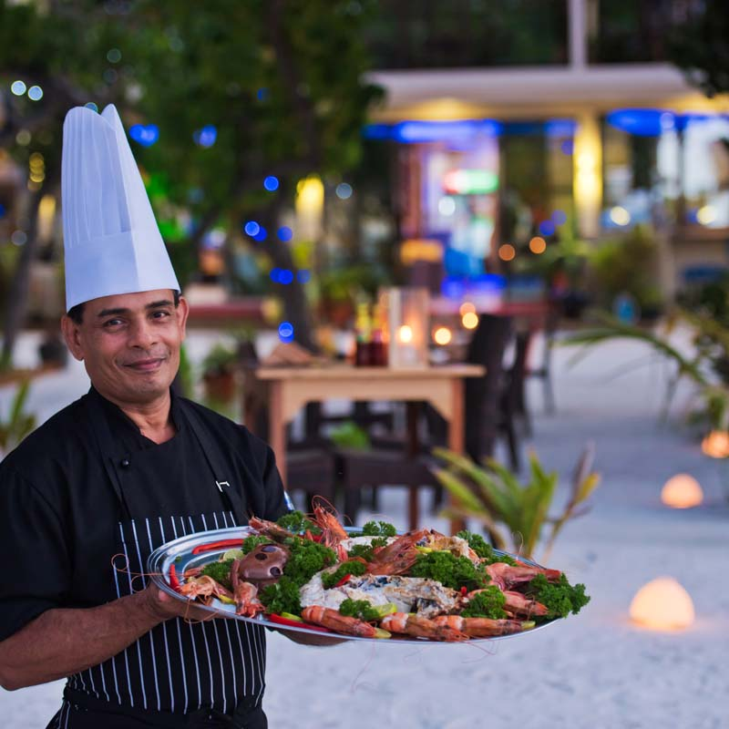 Sea food dishes in Maldives