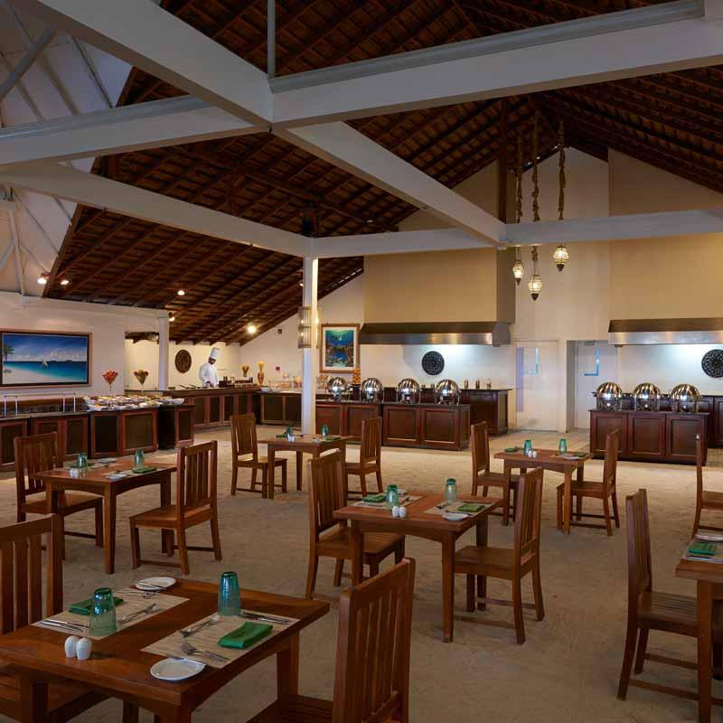 Spacious Ellaidhoo restaurant in Maldives
