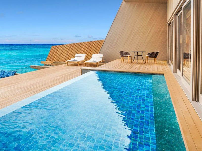 Sunset Over Water Villa With Pool gallery images
